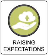 Raising Expectations Button